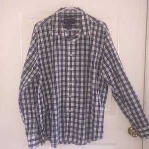 Authentic America Rag plaid long sleeve shirt XL